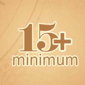 15+ minimum